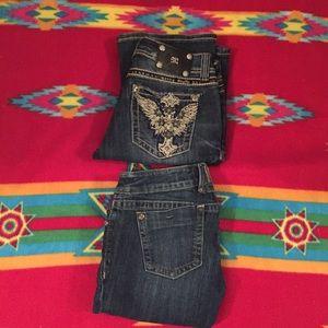 2 Miss Me Jeans (JP5896B2 & JP4996-3 ) Sz 30/34